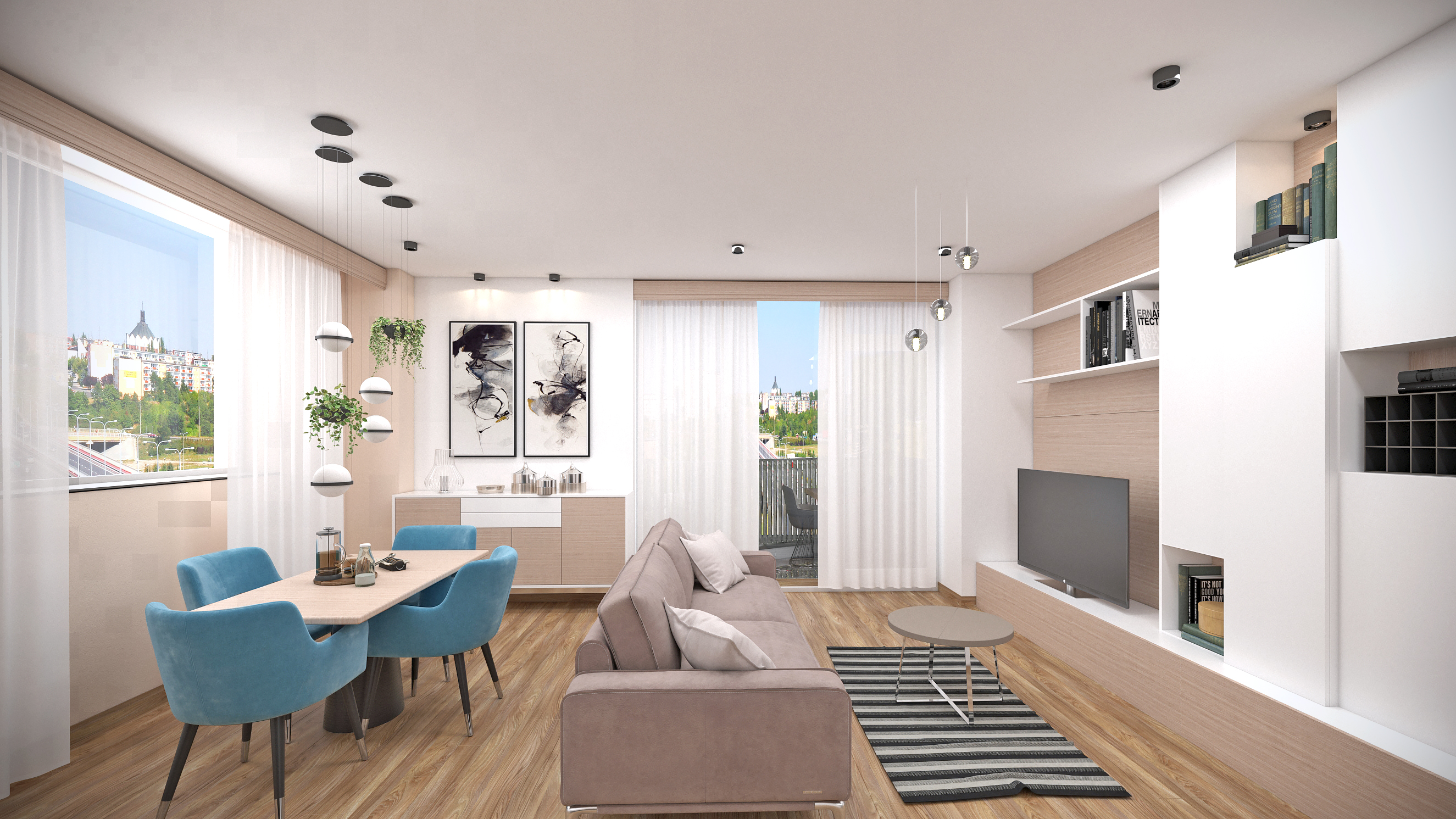 Imagine reprezentativa apartament Model 2C1