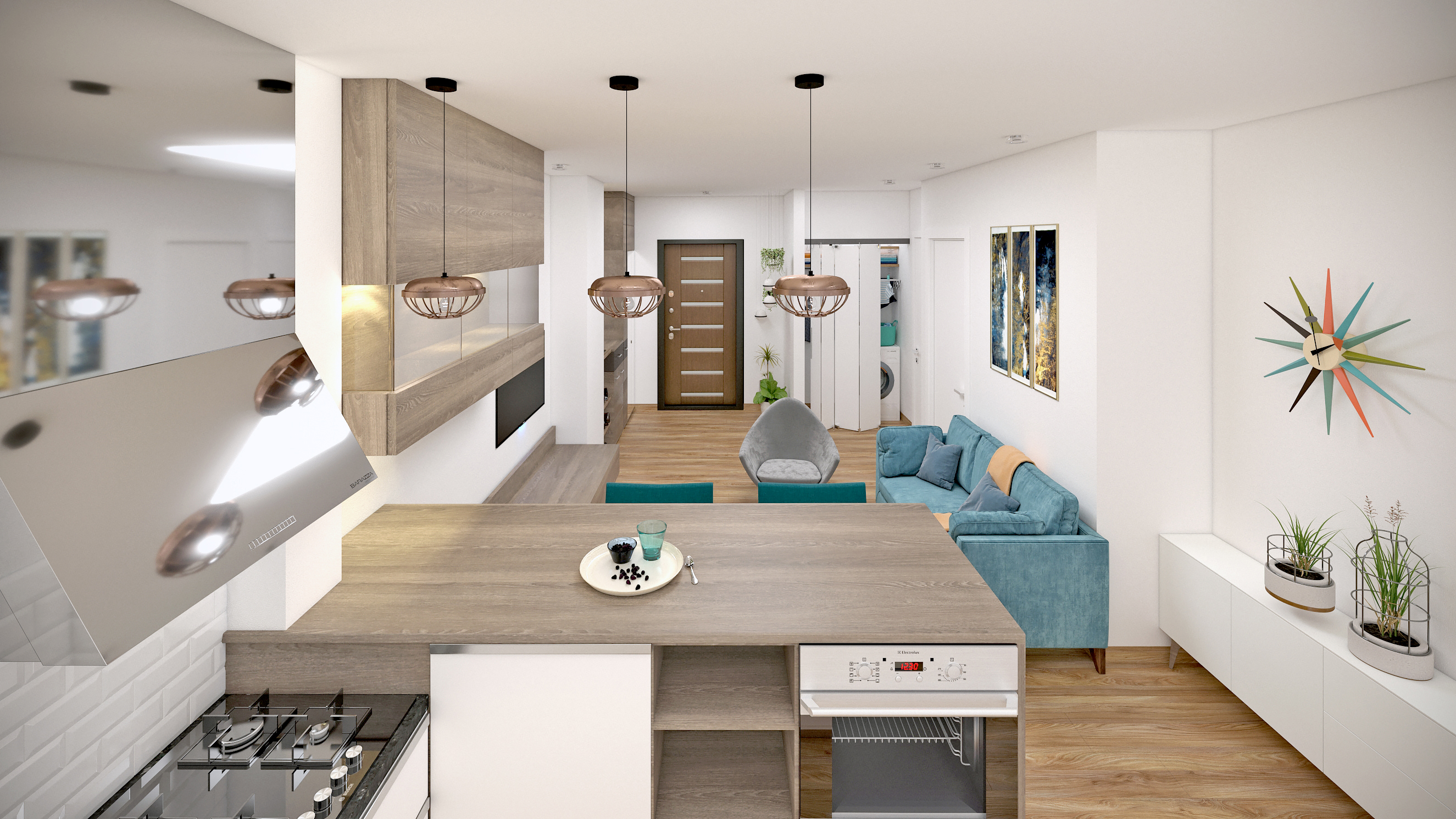 Imagine reprezentativa apartament Model 1C1